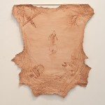 3_minhalee_pilgrimage to the middle east_drawing_iron on lamb skin_about 150x100cm_2013