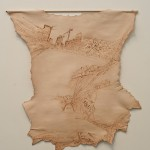 5_minhalee_pilgrimage to the middle east_drawing_iron on lamb skin_about 150x100cm_2013