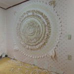 Minha-LEE_Lotus_installation_cutting on wall paper_2017_1